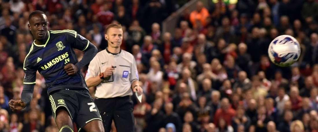 Albert Adomah podría cambiar el 'Boro' por el Aston Villa. AFP