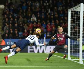 Alli headed home Spurs' second of the game. AFP