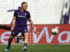 Ribéry veut porter plainte contre Karine Le Marchand. AFP