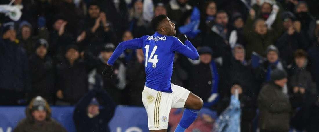 Leicester drew 1-1. AFP