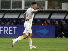Born in Paris, Sofiane Boufal, pictured on April 16, 2016, came through the youth system at Angers and made his debut in the French second division at the age of 18 and the following season became a first team regular