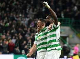 Christie (L) and Edouard combined in Celtic's first goal in their win over Lazio. AFP
