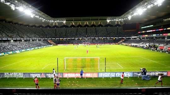 Football grinds to a halt, but not in Australia. AFP