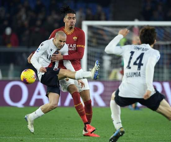 Roma top-four hopes hit by Bologna loss. AFP