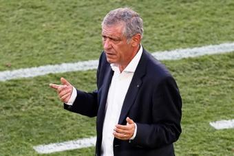 Fernando Santos analisa vitória diante do Catar. AFP