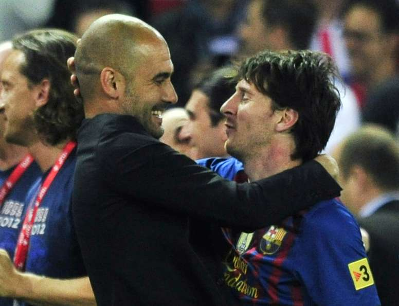 Pep Guardiola did not want to say much about Lionel Messi's situation. AFP