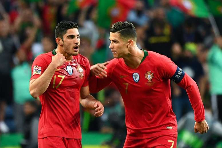 Guedes was his team's goalscorer which has now brought them a second title in three years. AFP