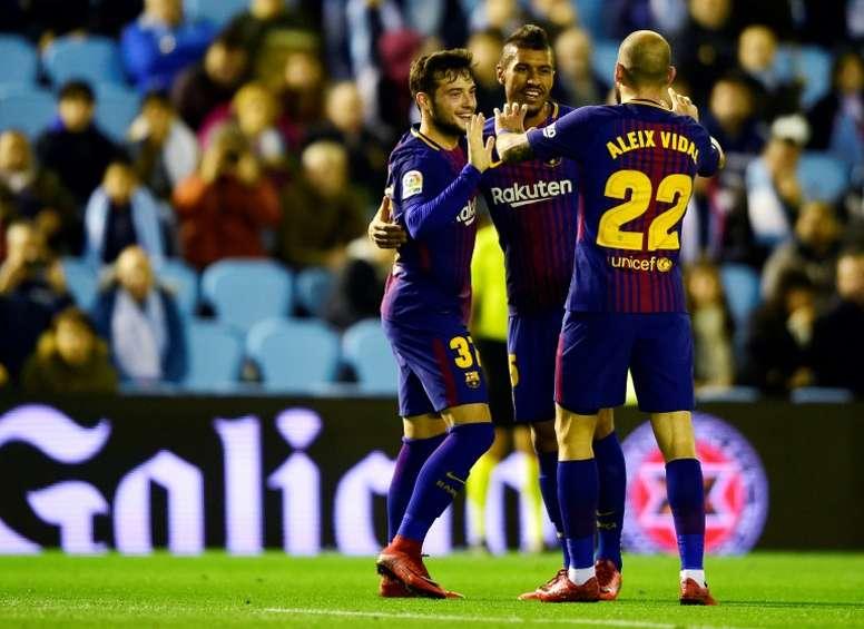 Los menos habituales del Barça tuvieron sus oportunidad. AFP