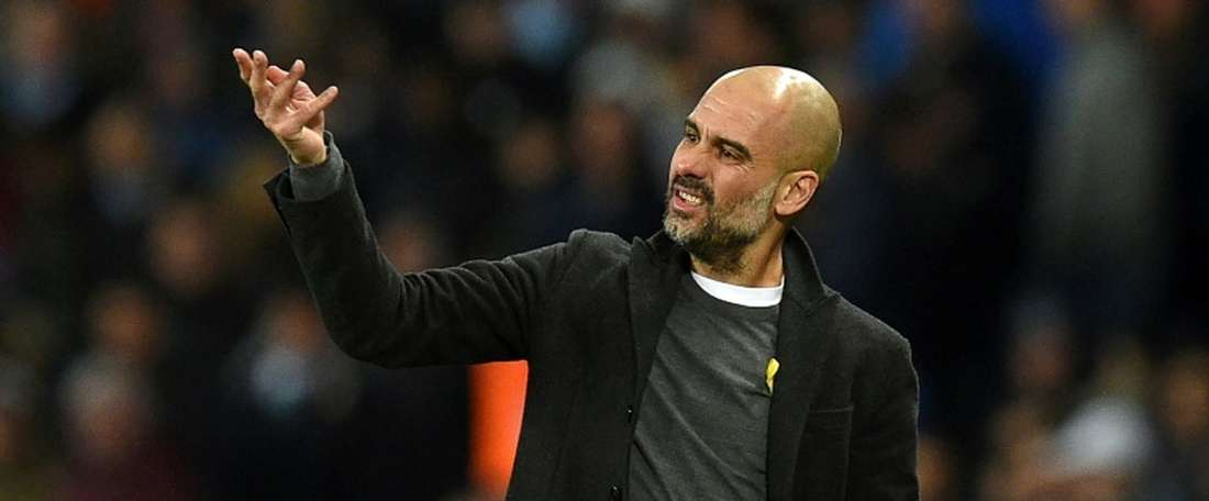 Guardiola is well known for his passionate coaching techniques. AFP