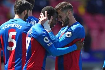 El Crystal Palace venció este domingo al Aston Villa. AFP