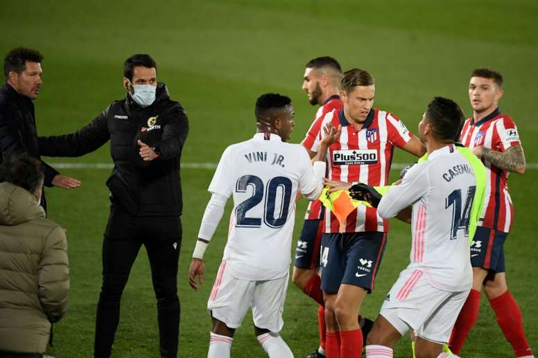 Real Madrid got a deserved 2-0 victory over Atletico Madrid in the Madrid derby. AFP