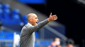 Herrlich makes belated touchline debut as Augsburg thump Schalke. AFP