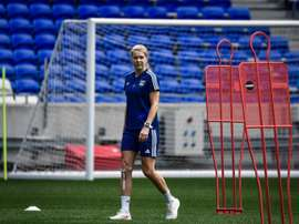 Hegerberg is in the Lyon squad. AFP