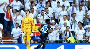 Courtois, after his best Real Madrid numbers. AFP