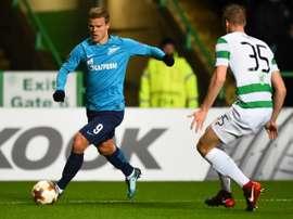 O Zenit foi sancionado pela UEFA. AFP