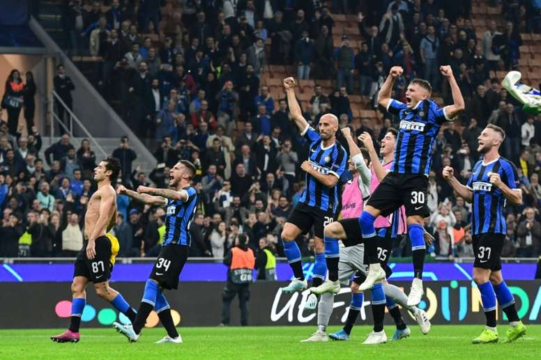 Inter Milan got their first win of the Champions League campaign against Dortmund in the San Siro.