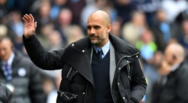 Guardiola's Man City side look a formidable force this season. AFP