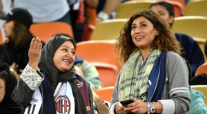 Women were seen in the stands during the match. GOAL