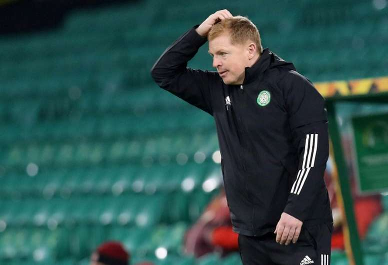 Neil Lennon's Celtic could onlhy draw 2-2 at Hibernian. AFP