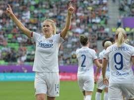 Ada Hegerberg confiante no seu retorno ao futebol. AFP