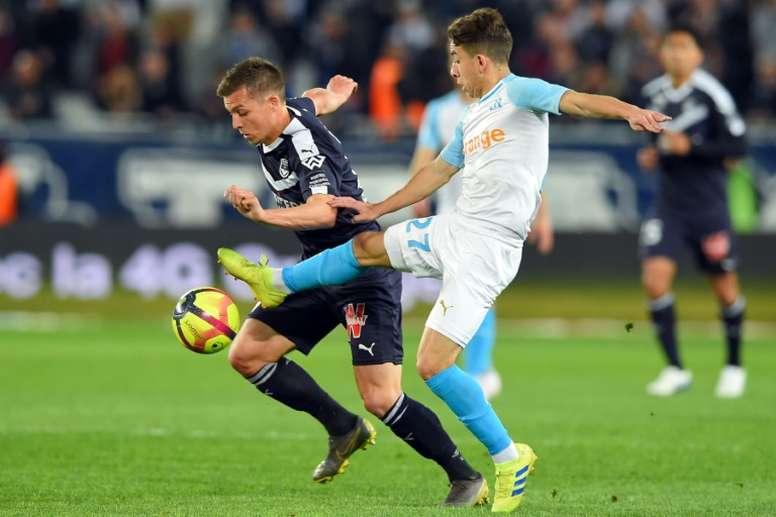 El Girondins venció 2-0 al Olympique de Marsella. AFP