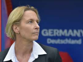 Germany coach Martina Voss-Tecklenburg wants World Cup glory in France. AFP