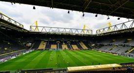 Todo en orden en el regreso del fútbol alemán. AFP
