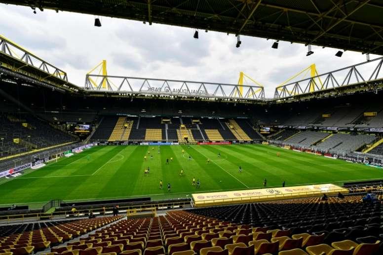 O saldo positivo na Alemanha com a volta do futebol. AFP