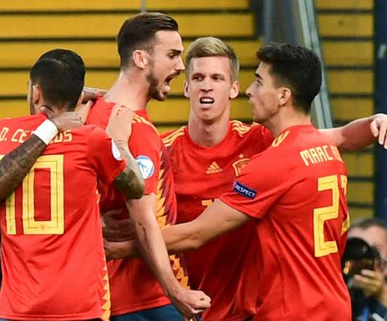 Fabian Ruiz opened the score and was then made man of the tournament. AFP
