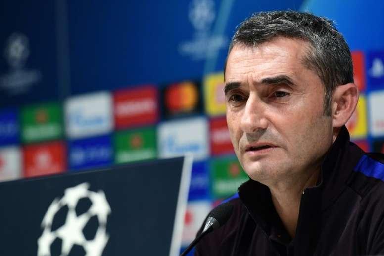 Valverde habló de la ausencia de Leo Messi. AFP