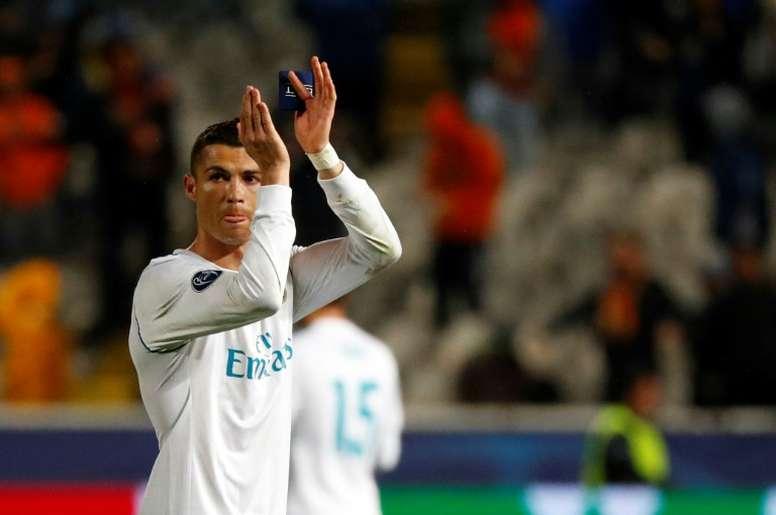 CR7 melhor da semana na Champions. AFP