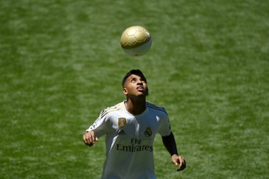 Rodrygo prefers to drop to the B team than go out on loan. AFP