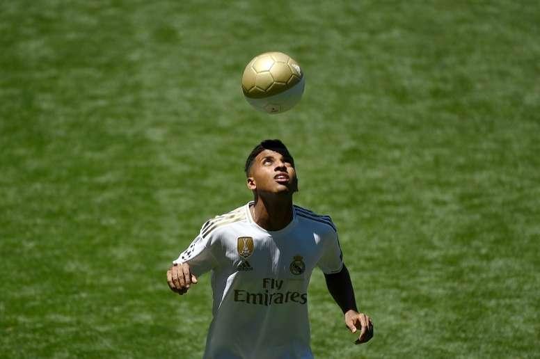 Rodrygo solo aceptaría bajar al Castilla. AFP
