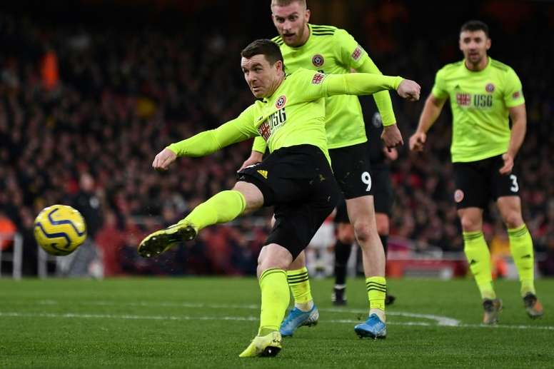 El Sheffield United rasca un empate al Arsenal. AFP