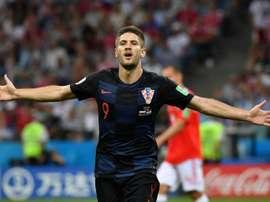 El atacante croata confía en los suyos para poder llegar a la final. AFP