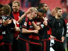 El Bayer Leverkusen ocupa la tercera posición de la Bundesliga. AFP