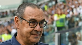 Coach Maurizio Sarri prepares for his first Champions League game at home with Juventus.