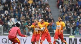 A equipe italiana tem agora três vitórias na Serie A. EFE