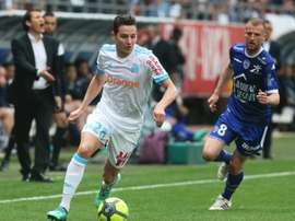 El Olympique de Marsella venció, no sin sufrimiento, en su visita al Troyes. AFP