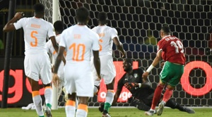 En-Nesyri's goal was enough for Morocco to beat Ivory Coast. AFP