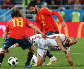 Le Maroc a tenu la dragée haute à l'Espagne. EFE