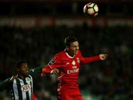 El defensor ha disputado 35 partidos con el Benfica. AFP