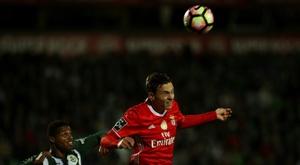 O defesa disputou 35 jogos com o Benfica. AFP