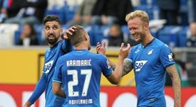 El Hoffenheim ganó 0-3 al Hertha Berlin. AFP