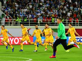 Mat Ryan was the shoot out hero for the Socceroos. AFP