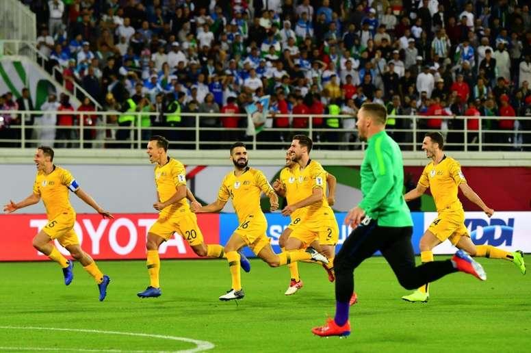 Australia sufrió, pero lo logró en penaltis. AFP