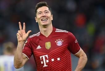 Lewandowski ya es máximo goleador de la Bundesliga. AFP