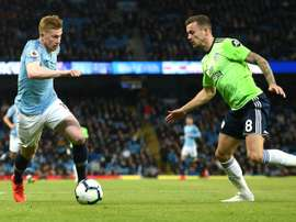 De Bruyne thinks England have lots of young talent. AFP