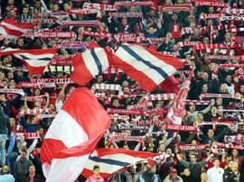 Lille fans provoked anger with a pair of banners targeting women. AFP