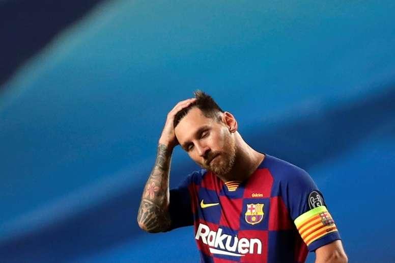 Luis Suárez habló del lío del Barça con Messi. AFP